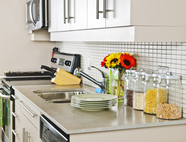Kitchen Countertop with Items