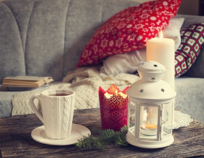 Holiday Pillows and Mug