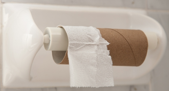End of Toilet Paper Roll